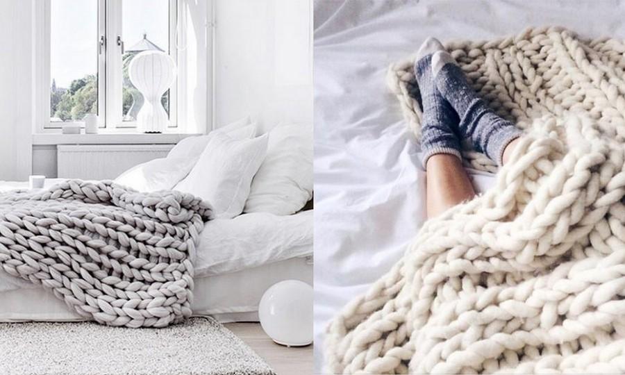 Style Report: Cozy Up. Wollen dekens.