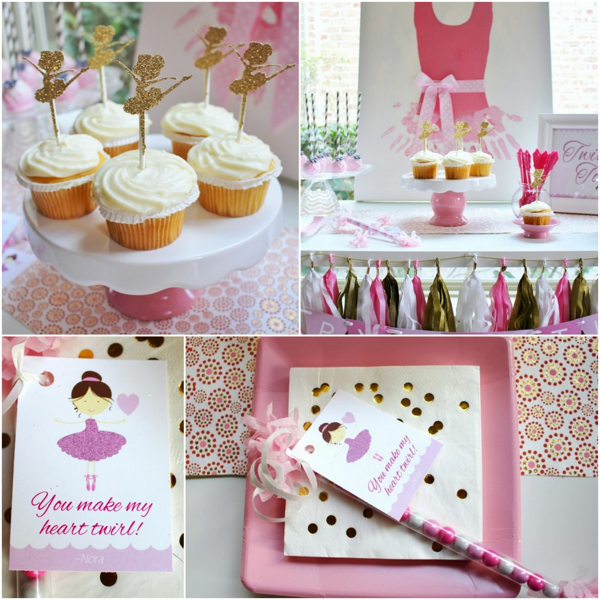 Style Report: kids party ideas. Ballet Party. Free printables.