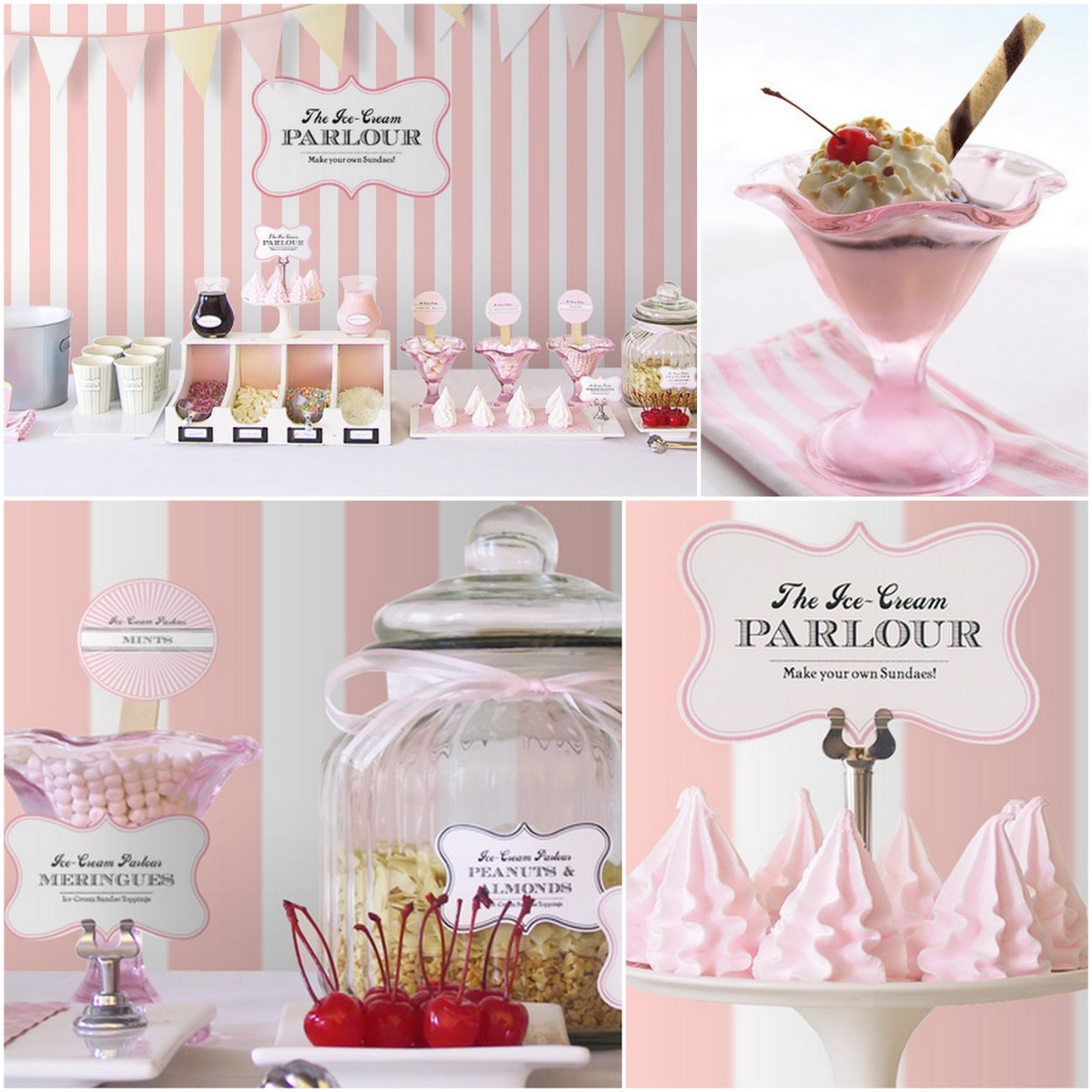 Style Report: kids party ideas. Icecream Party. Free Printables.