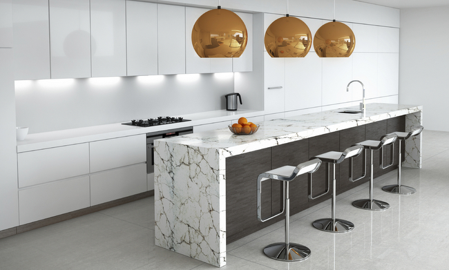 Style Report: Marble Kitchen