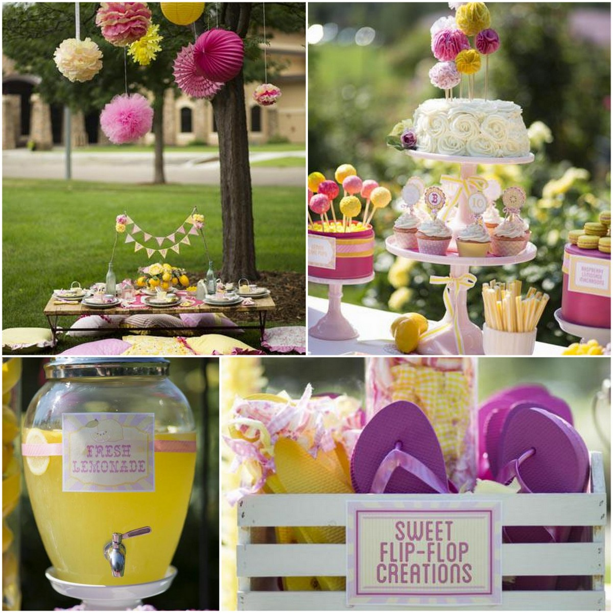 Style Report: kids party ideas. Sweet and Sunny Lemonade Party.