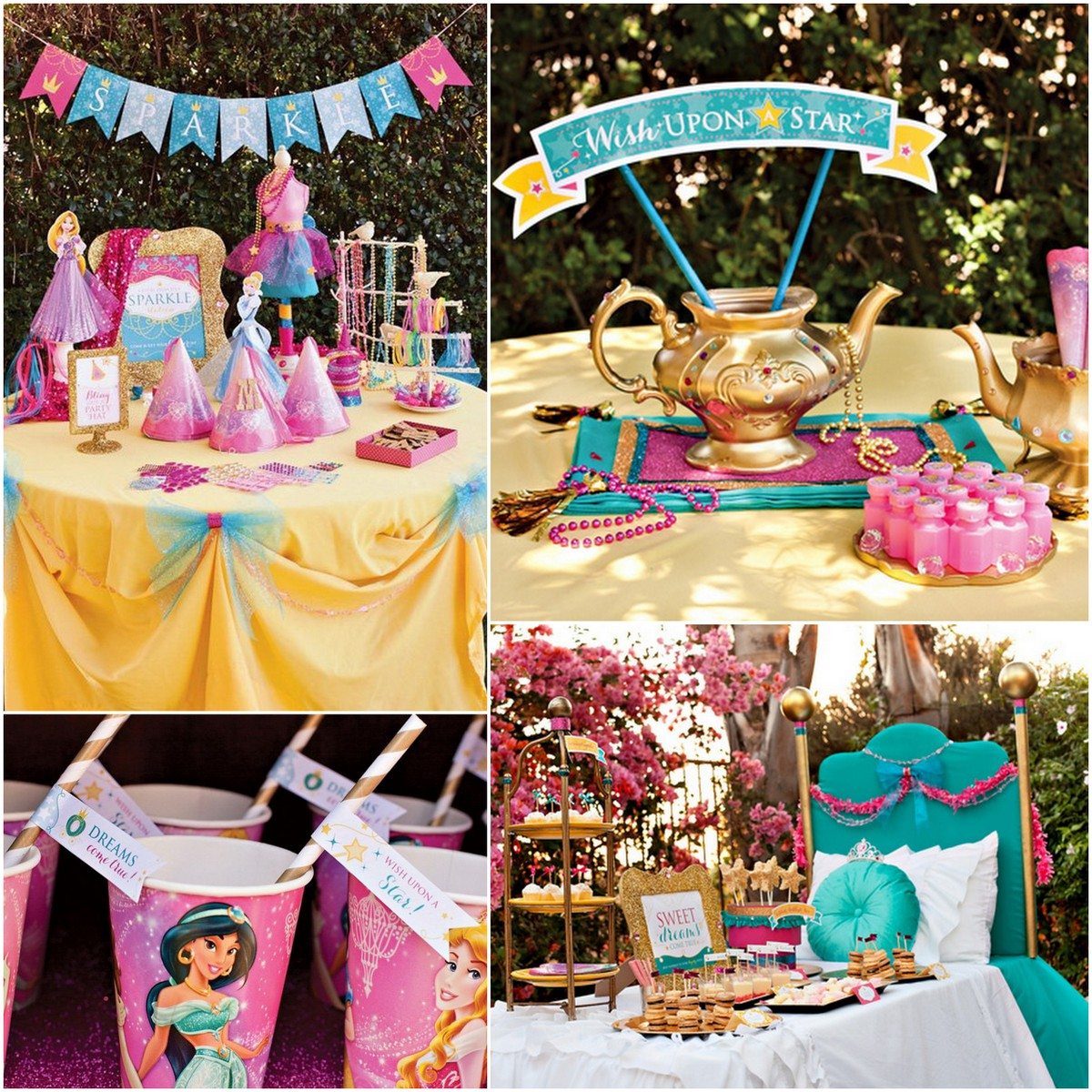 Style Report: kids party ideas. A princess party. Free printables.